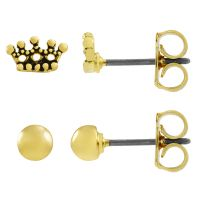Ladies Juicy Couture Base metal Crown Expressions Stud Earrings Set