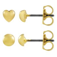 femme Juicy Couture Jewellery Heart Expressions Stud Earrings Set Watch WJW71010-712
