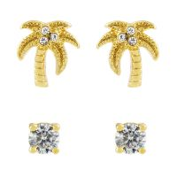 femme Juicy Couture Jewellery Juicy Palm Expressions Stud Earrings Set Watch WJW71008-712