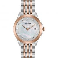 Bulova Diamond Gallery Dameshorloge Tweetonig 98S162