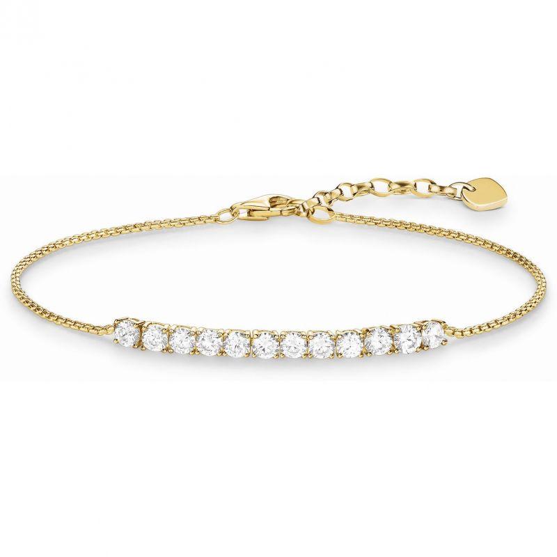 Ladies Thomas Sabo Sterling Silver Glam & Soul Tennis Bracelet A1540-414-14-L19.5V