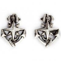 Ladies Chrysalis Silver Plated Charmed North Star Earrings CRET0209SP