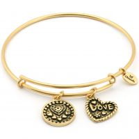 Ladies Chrysalis Gold Plated Thinking Of You Love Expandable Bangle