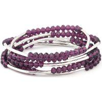 Ladies Chrysalis Silver Plated Nomad Purple Indivduality Elasticated Necklace/Bracelet Wrap CRWF0001SP-F