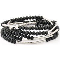 Ladies Chrysalis Silver Plated Obsidian Black Self Belief Elasticated Necklace/Bracelet Wrap CRWF0001SP-G