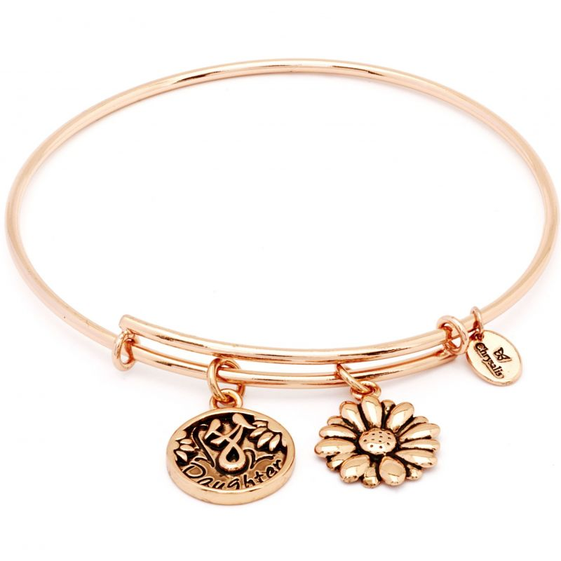 Ladies Chrysalis Rose Gold Plated Friend & Family Daughter Expandable Bangle CRBT0702RG