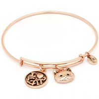 Ladies Chrysalis Rose Gold Plated Friend & Family I Love Cat Expandable Bangle CRBT0712RG