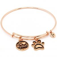 Ladies Chrysalis Rose Gold Plated Friend & Family I Love My Dog Expandable