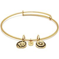 Ladies Chrysalis Gold Plated Life Believe Expandable Bangle