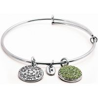 femme Chrysalis Good Fortune August Peridot Crystal Expandable Bangle Watch CRBT0108SP