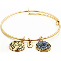 Chrysalis Good Fortune September Sapphire Crystal Expandable Bangle JEWEL