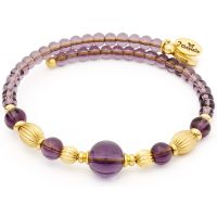 Ladies Chrysalis Gold Plated Gaia Summer Purple Wrap Bangle