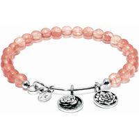 Damen Chrysalis Silber Plated Love Betreuer Wassermelone Rosen Armreif