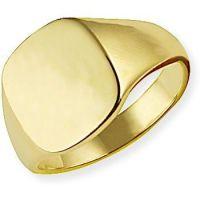 klassisch Oxford Polster Signet Ring Größe U