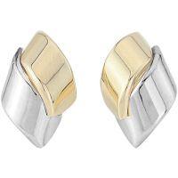 Weiß und Rose Gold Drop Ohrringe