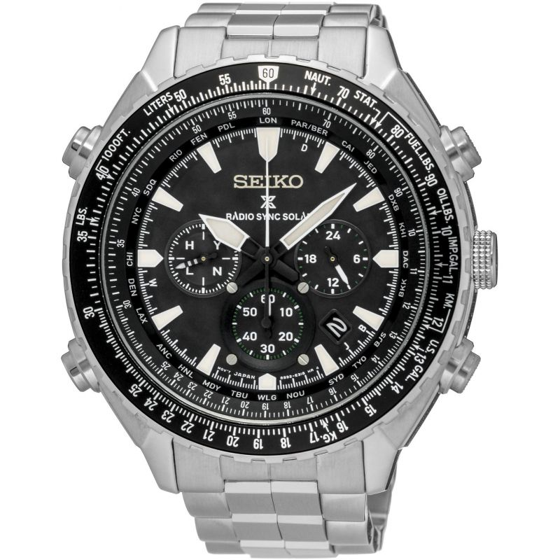 Mens Seiko Prospex Chronograph Solar Powered Watch SSG001P1