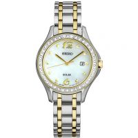 Ladies Seiko Dress Solar Powered Watch SUT312P9