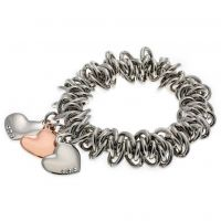 Ladies Fiorelli Silver Plated Scrunchie Style Bracelet