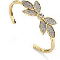 Ladies Fiorelli Gold Plated Glitter Flower Bangle B4799