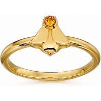 Damen Orla Kiely Sterlingsilber Kristall Set Biene Ring