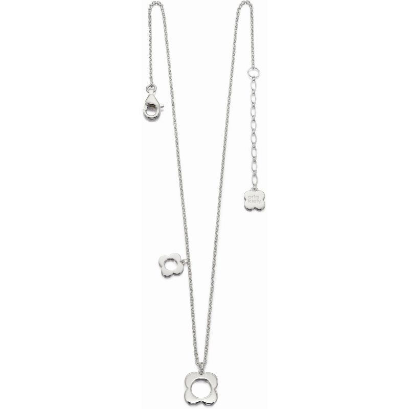 Ladies Orla Kiely Sterling Silver Flower Necklace N4041