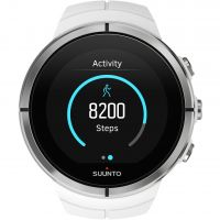 unisexe Suunto Spartan Ultra Ultra White HR Bluetooth Alarm Chronograph Watch SS022660000