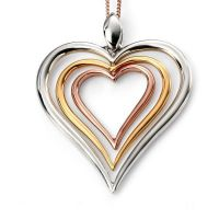 Elements Dames Open Heart Pendant Sterling Zilver P4194
