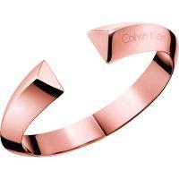 Damen Calvin Klein PVD Rosa plating Größe Klein Shape Armreif