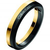 Damen Calvin Klein zweifarbig Stahl/vergoldet Größe L.5 Gorg Bico Ring