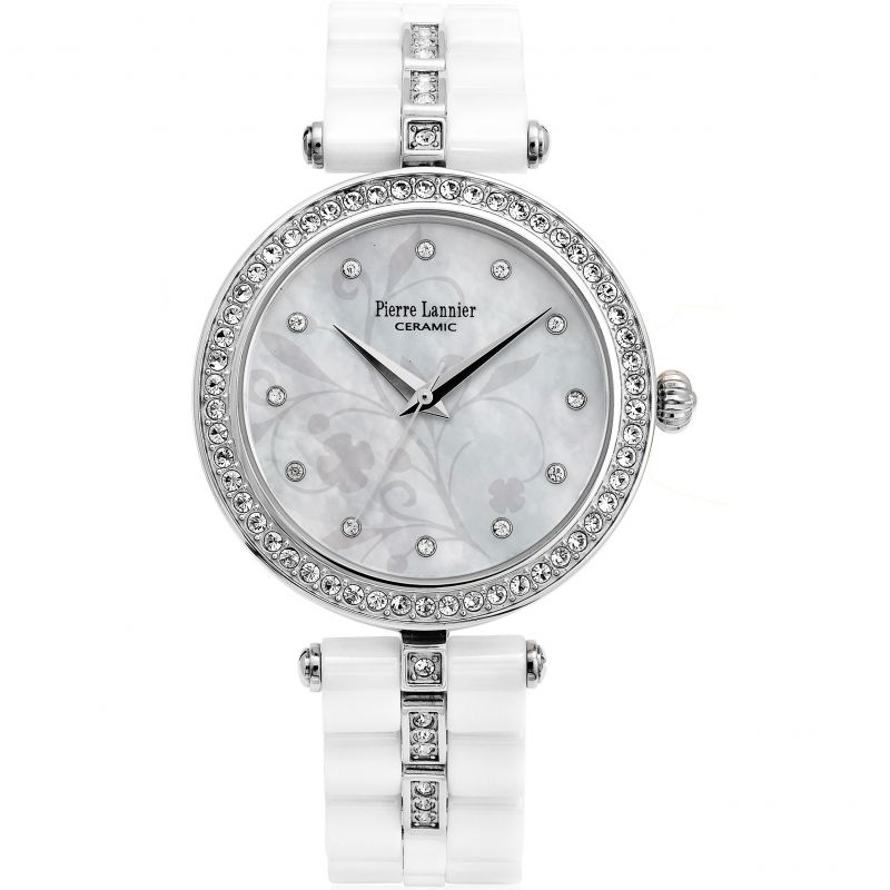 Damen Pierre Lannier Elegance Ceramic Watch 197F690