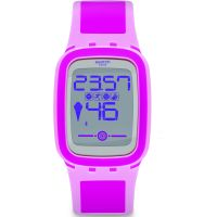 Unisex Swatch Pinkzero Alarm Chronograph Watch SUVP100