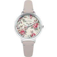 Damen Cath Kidston Kingswood Rose Nude Leather Strap Watch CKL001PS