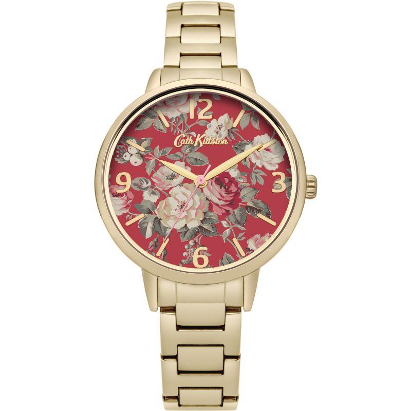 Damen Cath Kidston Garden Rose Gold Bracelet Watch CKL001GM