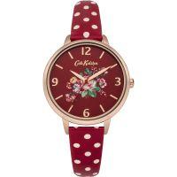 Damen Cath Kidston Briar Rose Rot gepunktet Armband Uhr