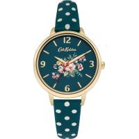 Damen Cath Kidston Briar Rose Grün gepunktet Armband Uhr