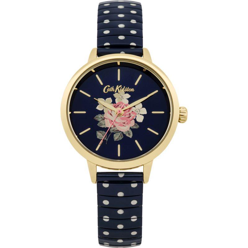 Damen Cath Kidston Richmond Rose Blue Polka Dot Expander Watch CKL009UG