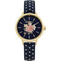 Damen Cath Kidston Richmond Rose Blau gepunktet Expander Uhr