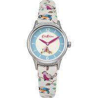 Damen Cath Kidston Klein Birds rotierend Scheibe Armband Uhr