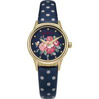 Damen Cath Kidston Wald Bunch Navy Spot Armband Uhr