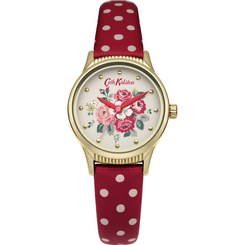 Damen Cath Kidston Forest Bunch Red Spot Strap Watch CKL012RG