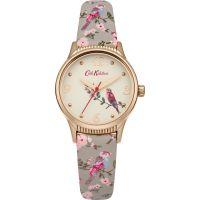 Damen Cath Kidston British Birds Grey Strap Watch CKL013ERG