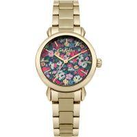 Damen Cath Kidston Mews Ditsy Gold Armband Uhr