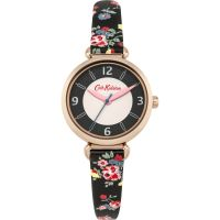 Damen Cath Kidston Kew Sprig Anthrazit Armband T-Bar Uhr