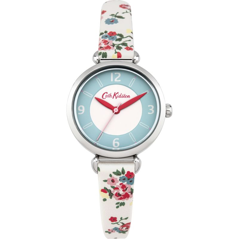 Damen Cath Kidston Kew Sprig Stone Strap T-Bar Watch CKL020CS