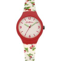 Damen Cath Kidston Strawberries Silicone Armband Uhr