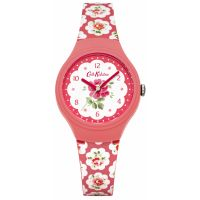 femme Cath Kidston Provence Rose Red Silicone Strap Watch CKL025P