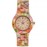 Unisex Wewood Criss Flower Watch