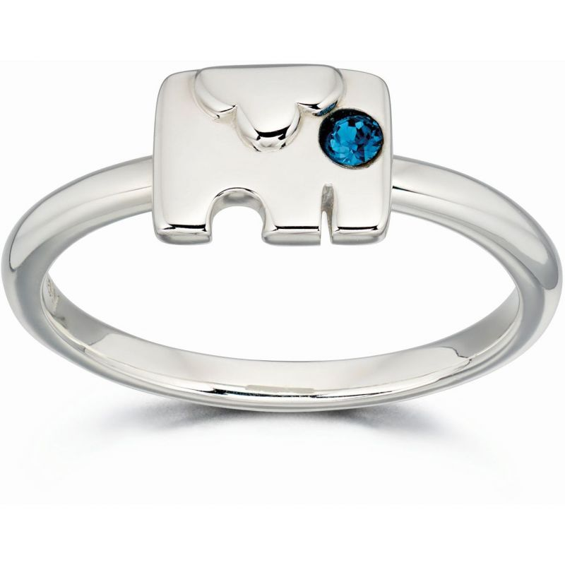 Ladies Orla Kiely Sterling Silver Elephant Ring R3495-54