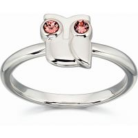 Ladies Orla Kiely Sterling Silver Owl Ring R3494-56