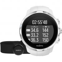 Unisex Suunto Spartan Sport Bluetooth White HR bundle Alarm Chronograph Watch SS022650000